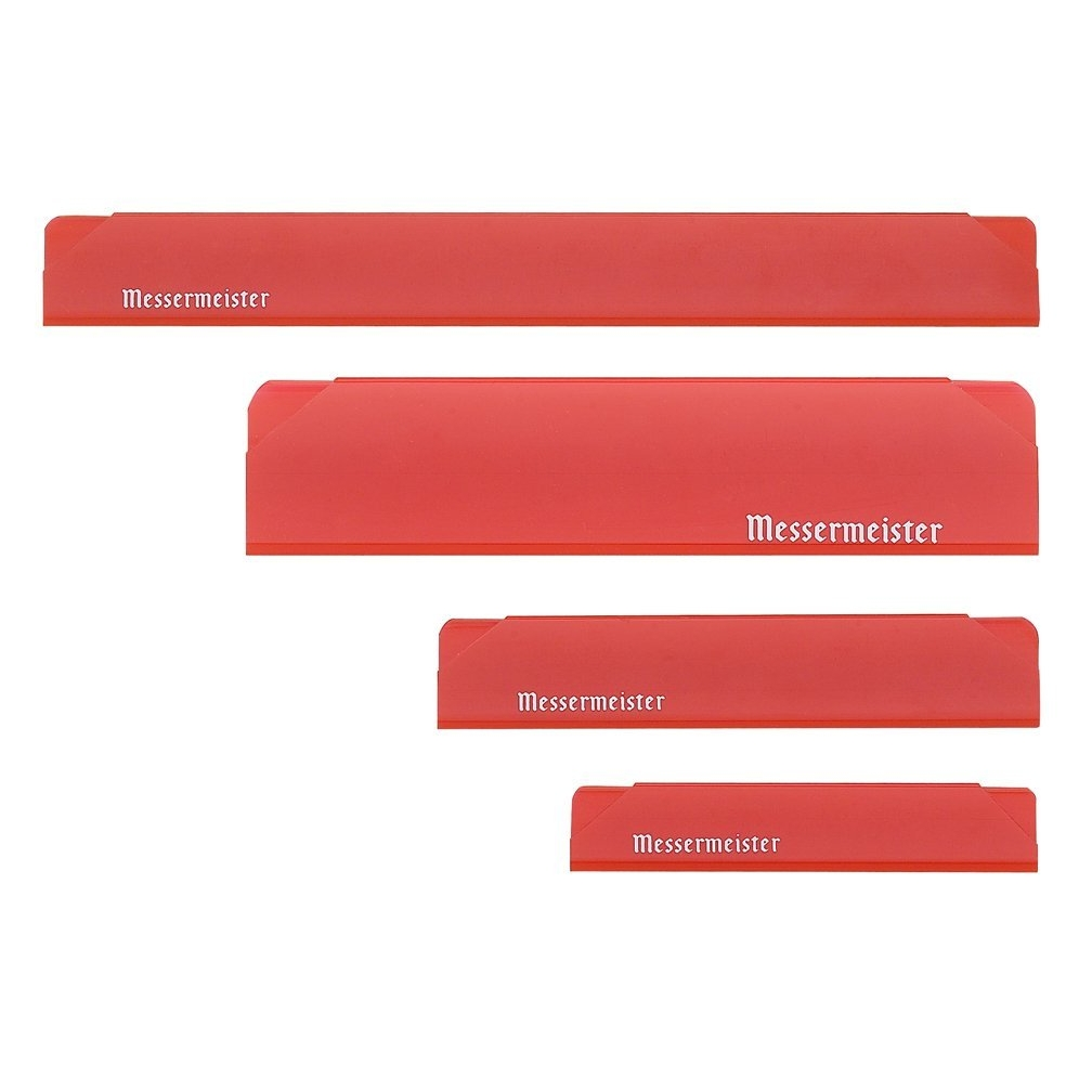 Messermeister Red 4 Piece Edge Guard Set