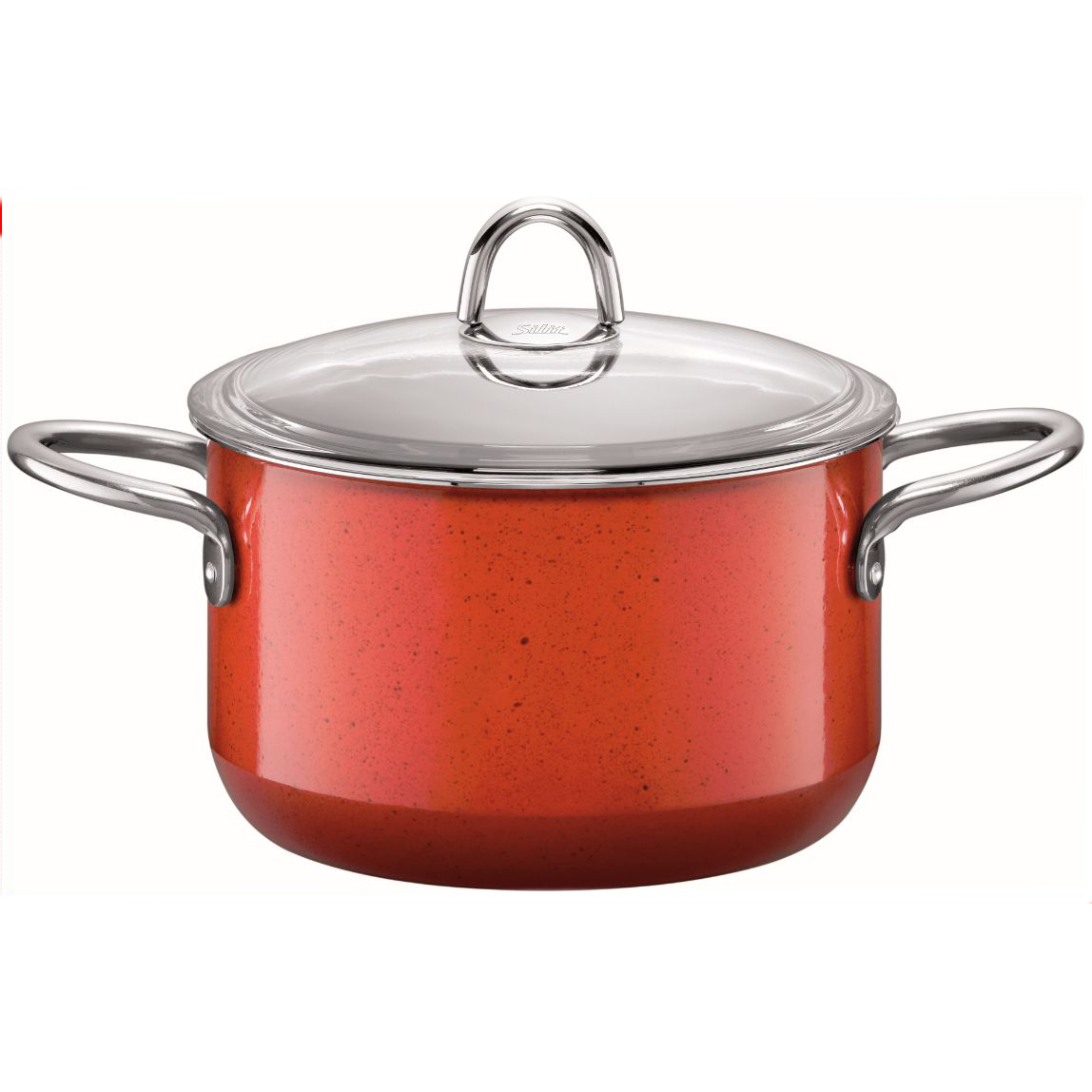 WMF Silit Passion 4 Energy Red Coated Steel High Casserole Pot with Lid
