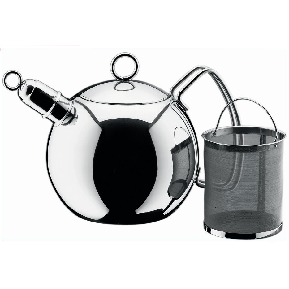 WMF 18/10 Stainless Steel Ball Shaped Tea Kettle, 1.5 Quart