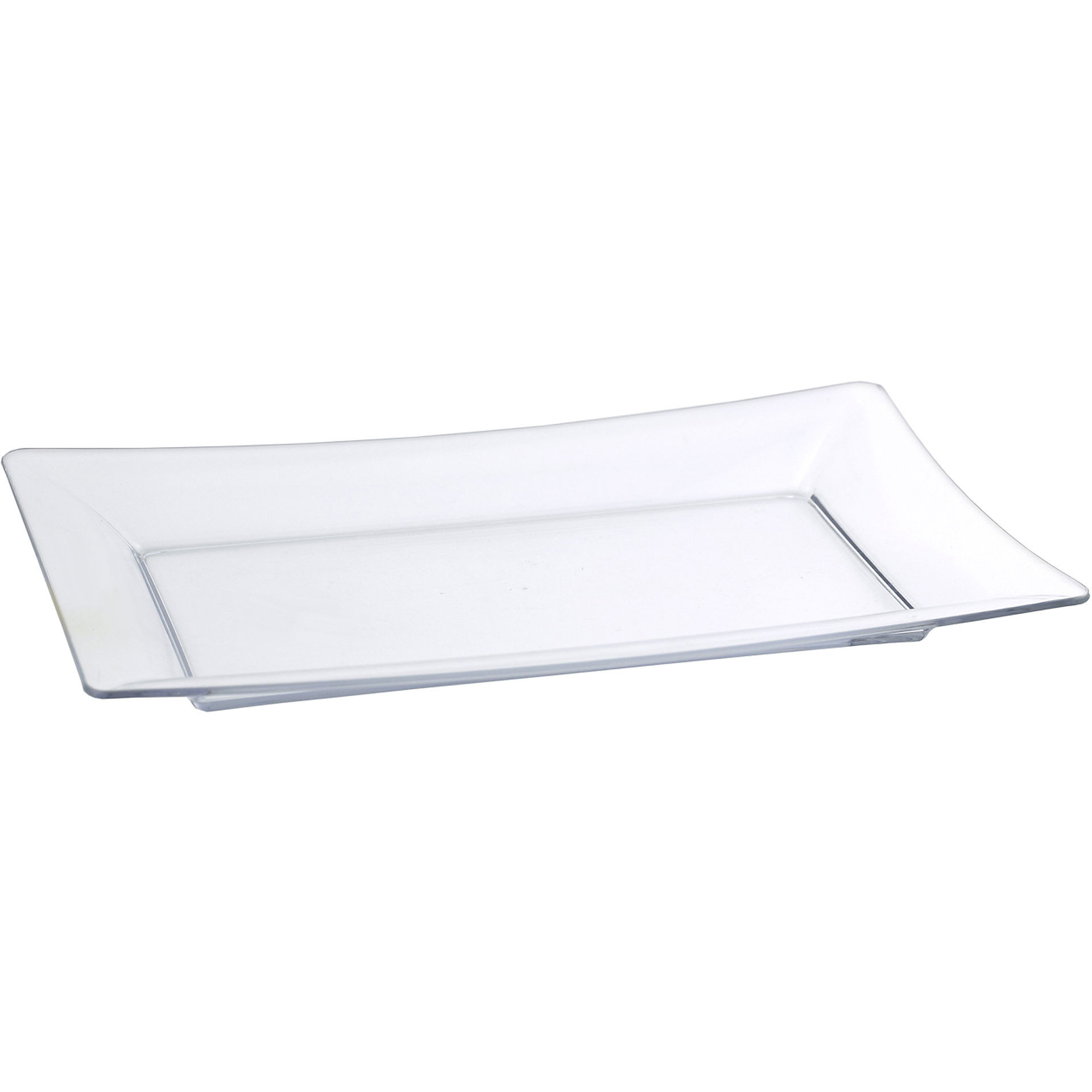 Acrylic Click Clack Serving Platter, 17 x 10.5 Inch