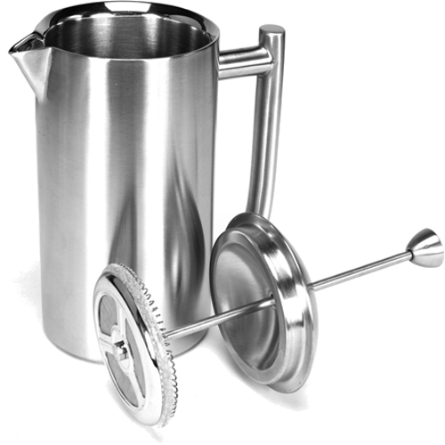 Frieling Brushed Stainless Steel French Press Coffeemaker, 44 Ounce