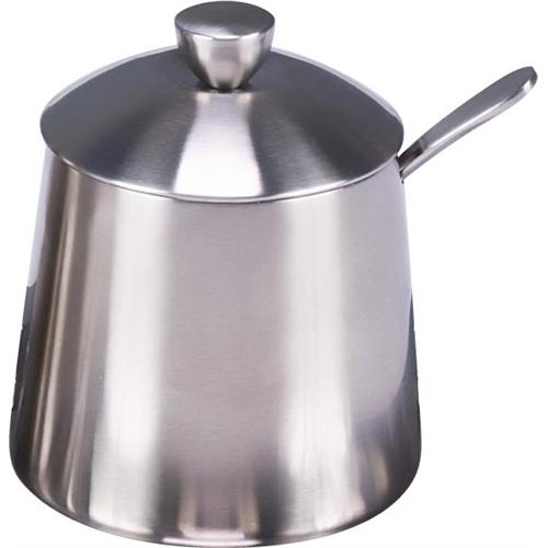 Frieling Brushed Stainless Steel 3 Piece Sugar Bowl Set