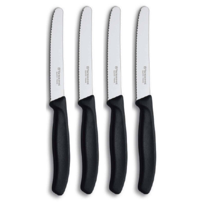 Victorinox Swiss Classic Black Steak Knife, Set of 4