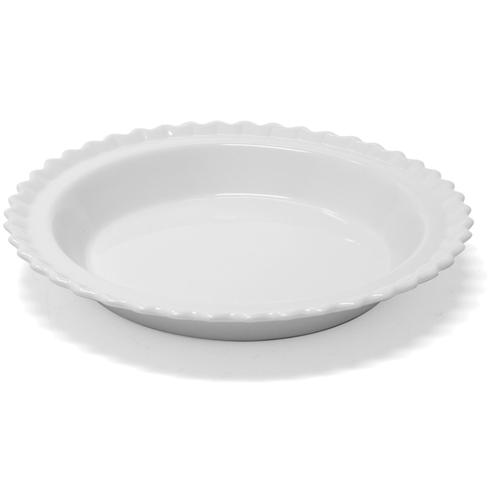 Chantal Glossy White Ceramic Classic Pie Dish, 9 Inch