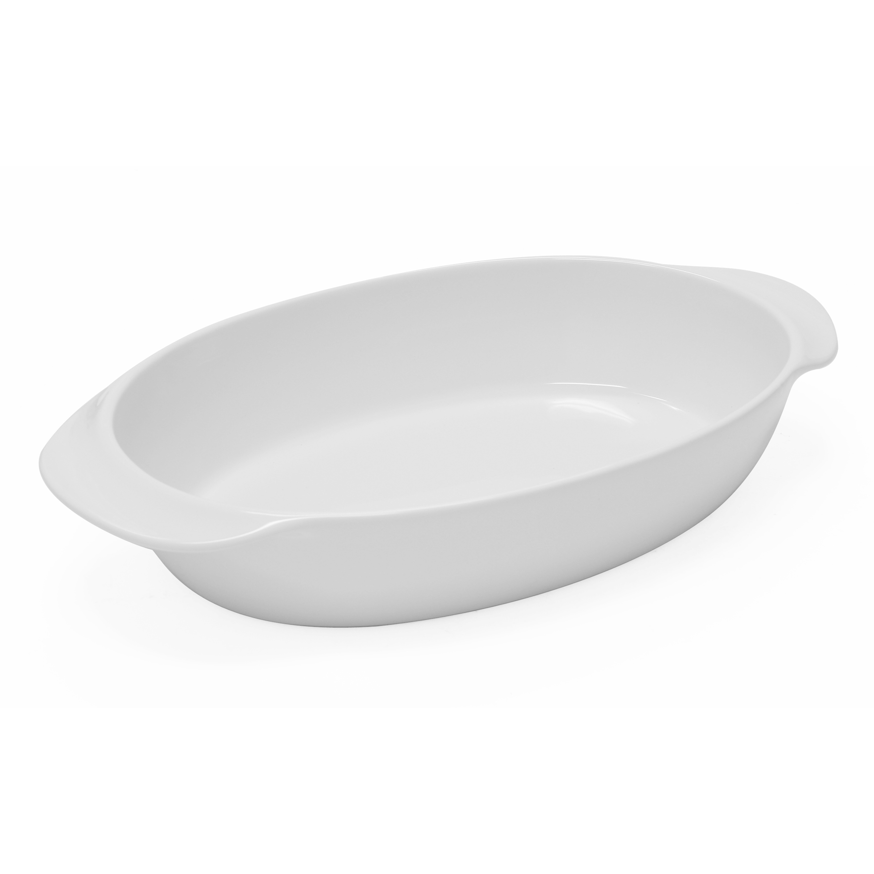Chantal Glossy White Classic Oval Baking Dish, 4.5 Quart
