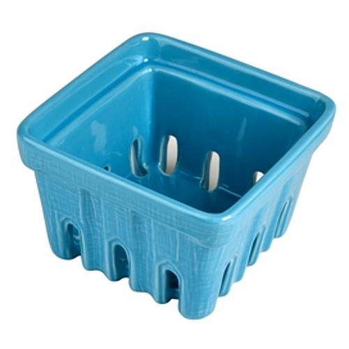 Artland Blue Ceramic Berry Fruit Basket