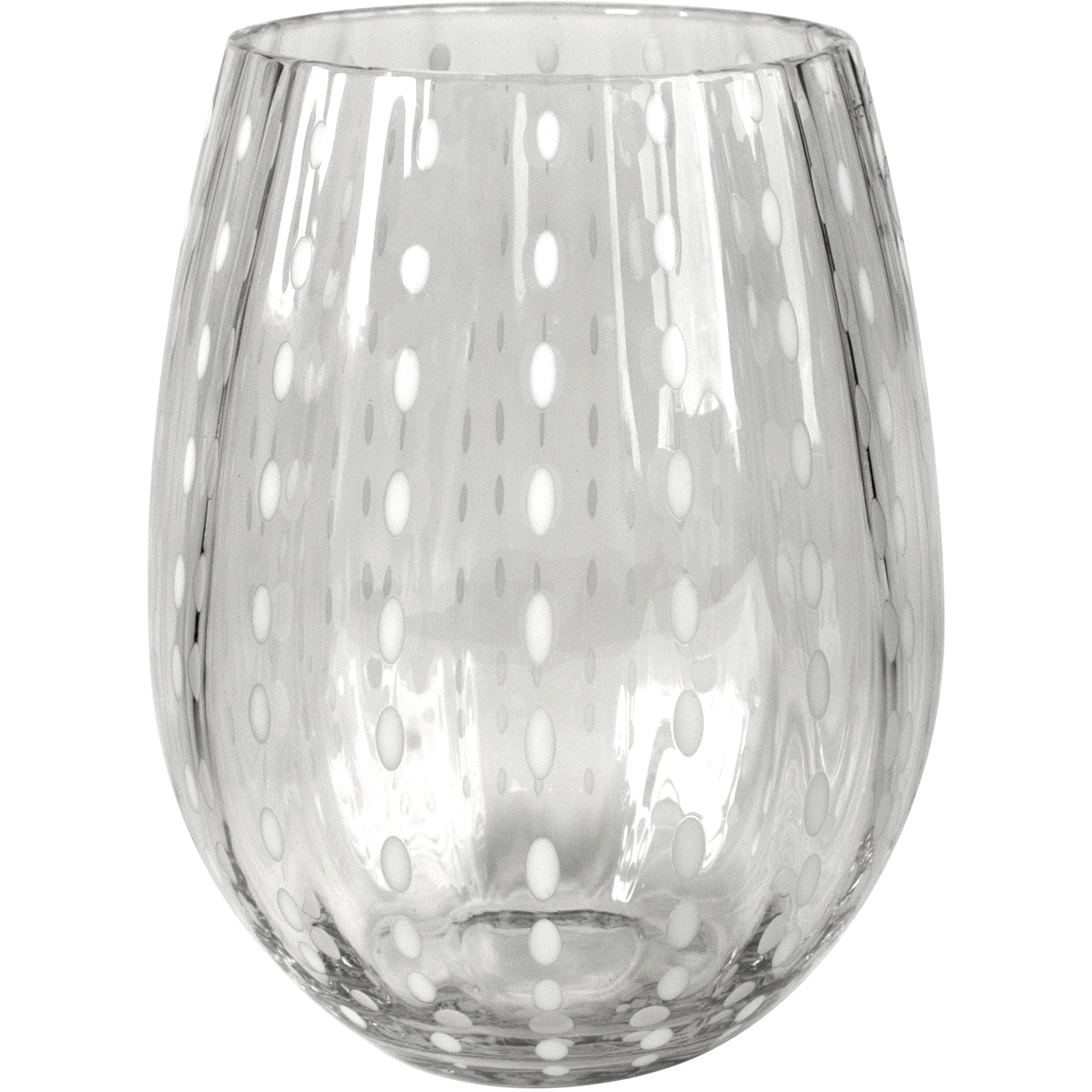 Artland Cambria Clear Stemless Tumbler Drinking Glass, 17 Ounce