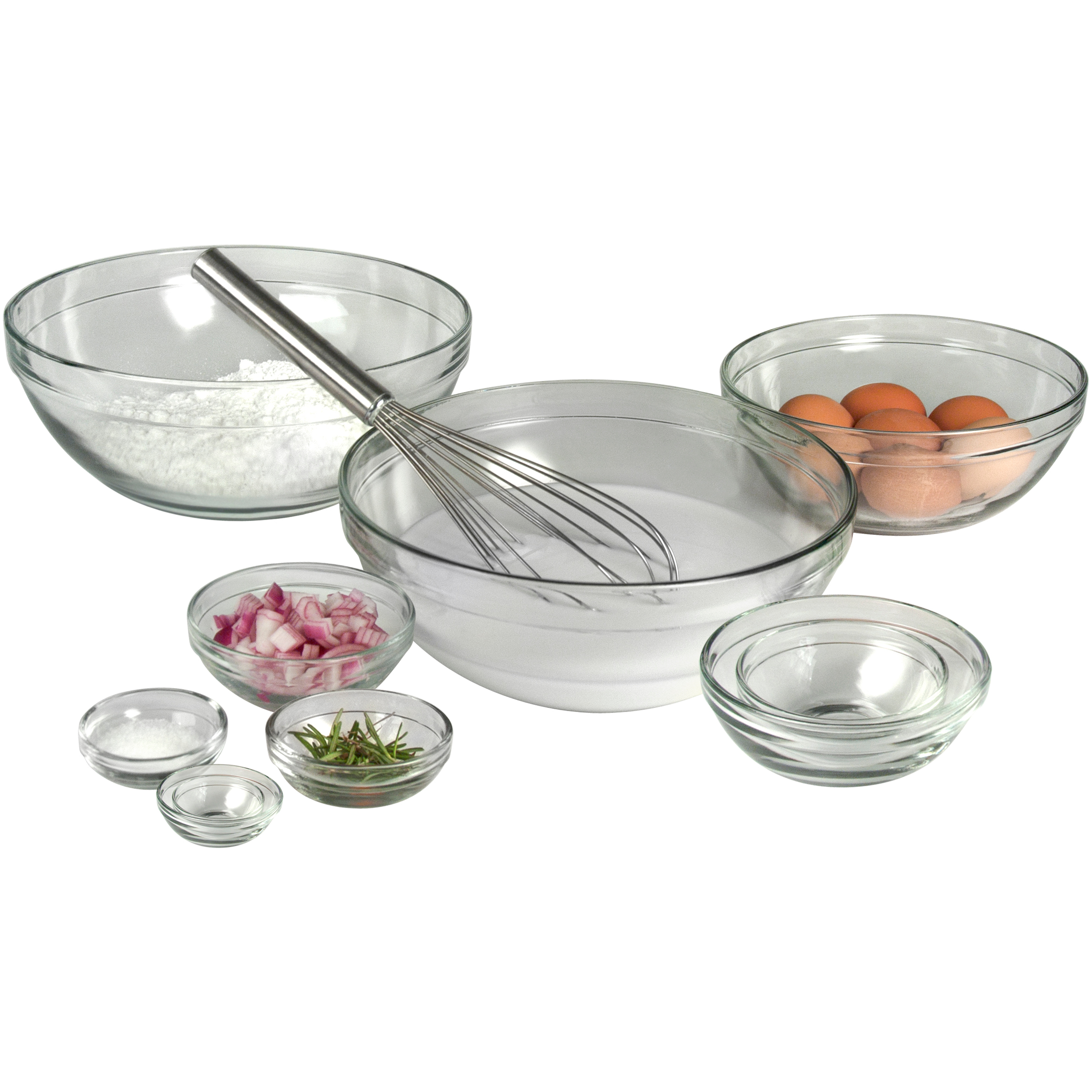 Artland 10 Piece Glass Mixing Bowl Set