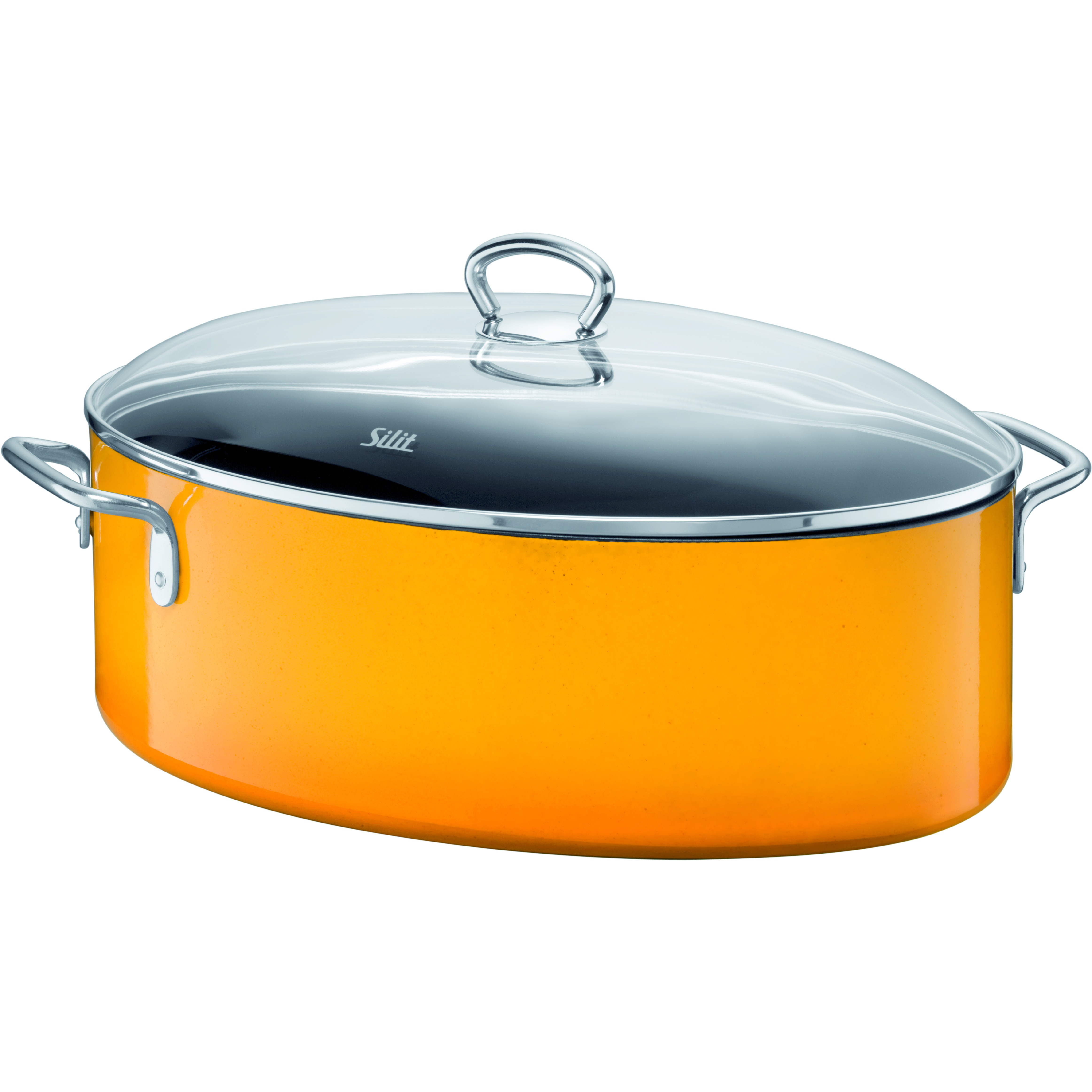 WMF Passion Colors Crazy Yellow Oval Roasting Pan with Lid, 8.5 Quart