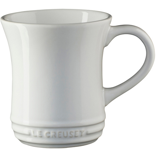 Le Creuset White Stoneware Tea Mug, 14 Ounce