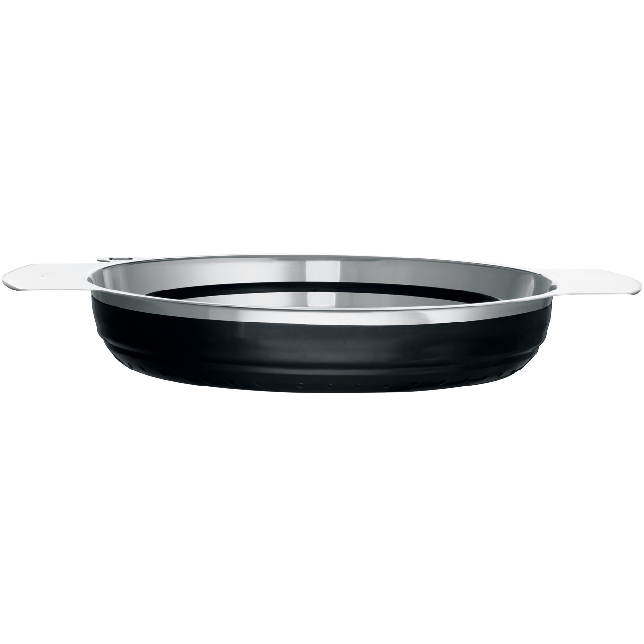 Rosle Black Silicone Collapsible Colander, 9.4 Inch