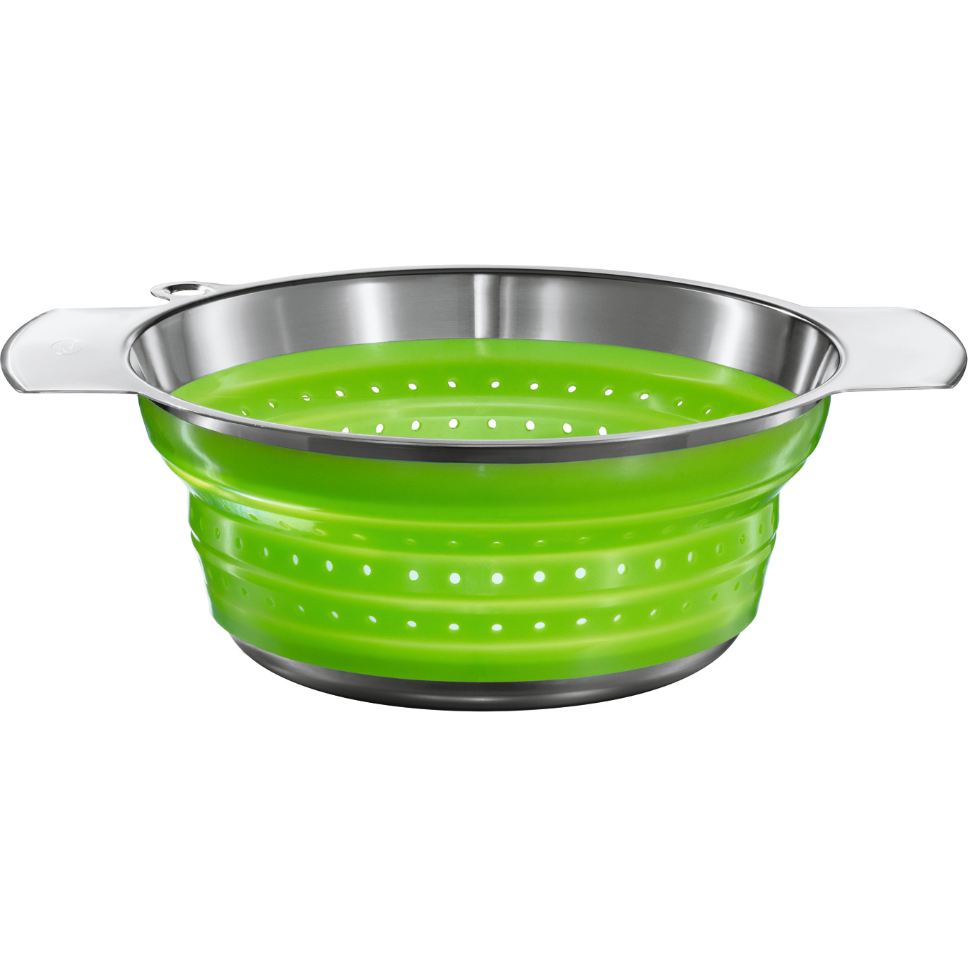 Rosle Green Silicone Collapsible Colander, 9.4 Inch