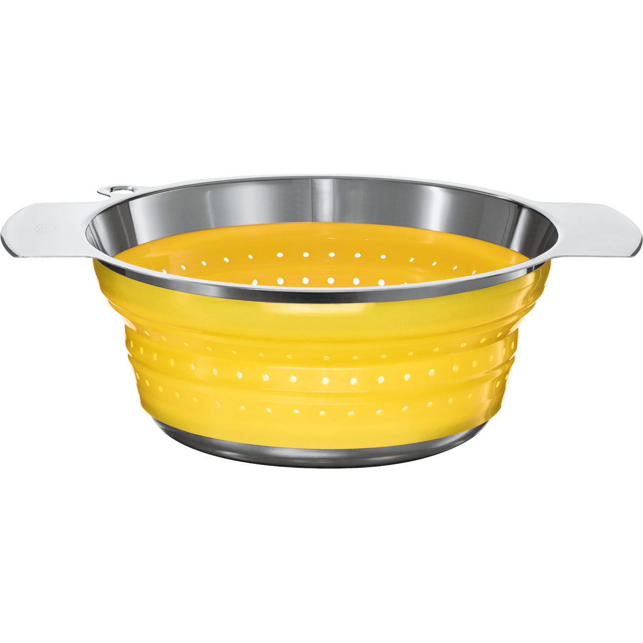 Rosle Yellow Silicone Collapsible Colander, 9.4 Inch