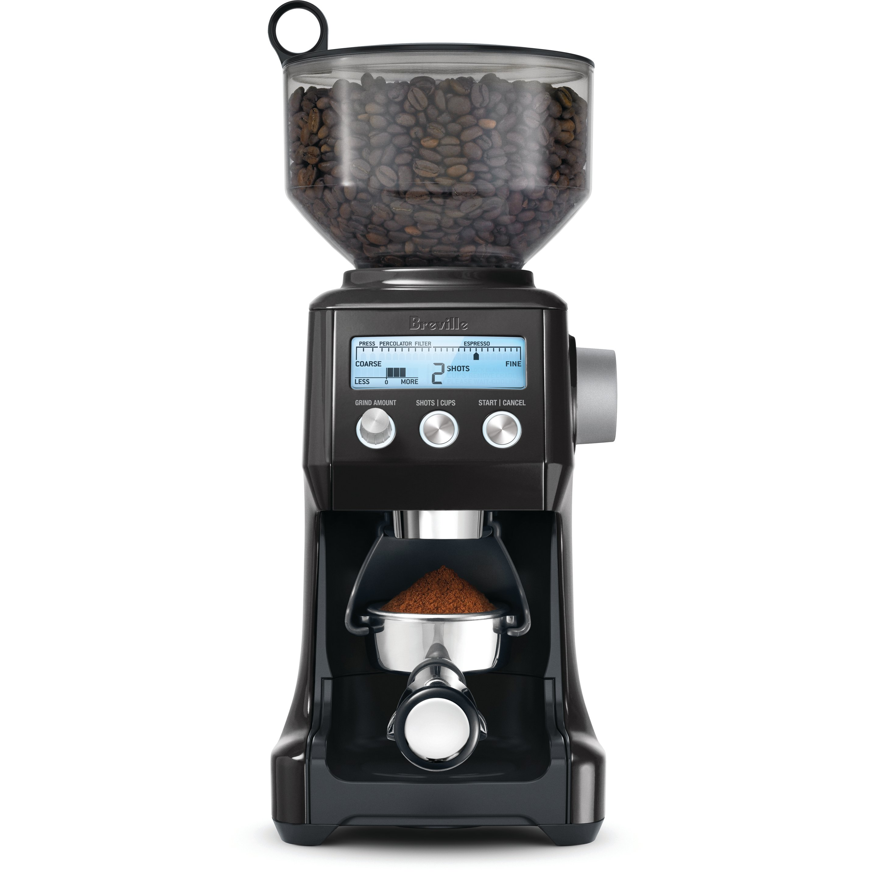 Breville BCG800BSXL Smart Grinder Black Sesame Die-Cast Metal Conical Burr Coffee Grinder