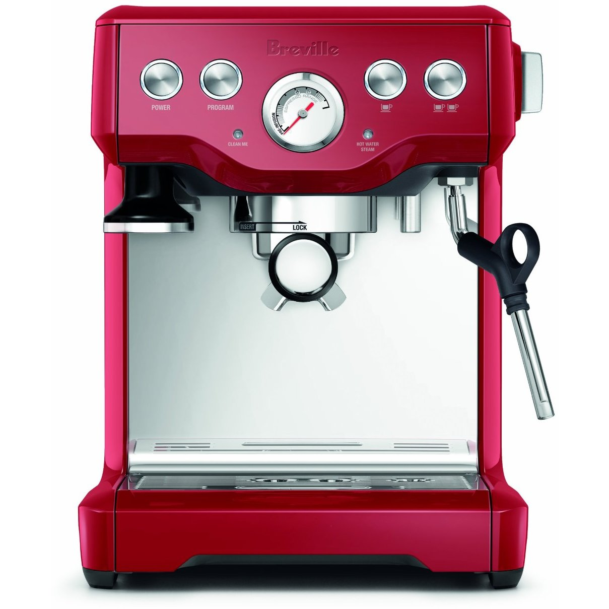 Breville BES840CBXL Infuser Cranberry Red Stainless Steel Espresso Machine