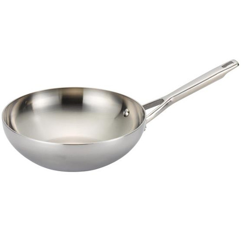 Anolon Tri-Ply Clad Stainless Steel Stir Fry Pan, 10.75 Inch