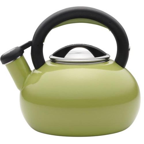 Circulon Sunrise Green Enamel on Steel Teakettle, 2 Quart