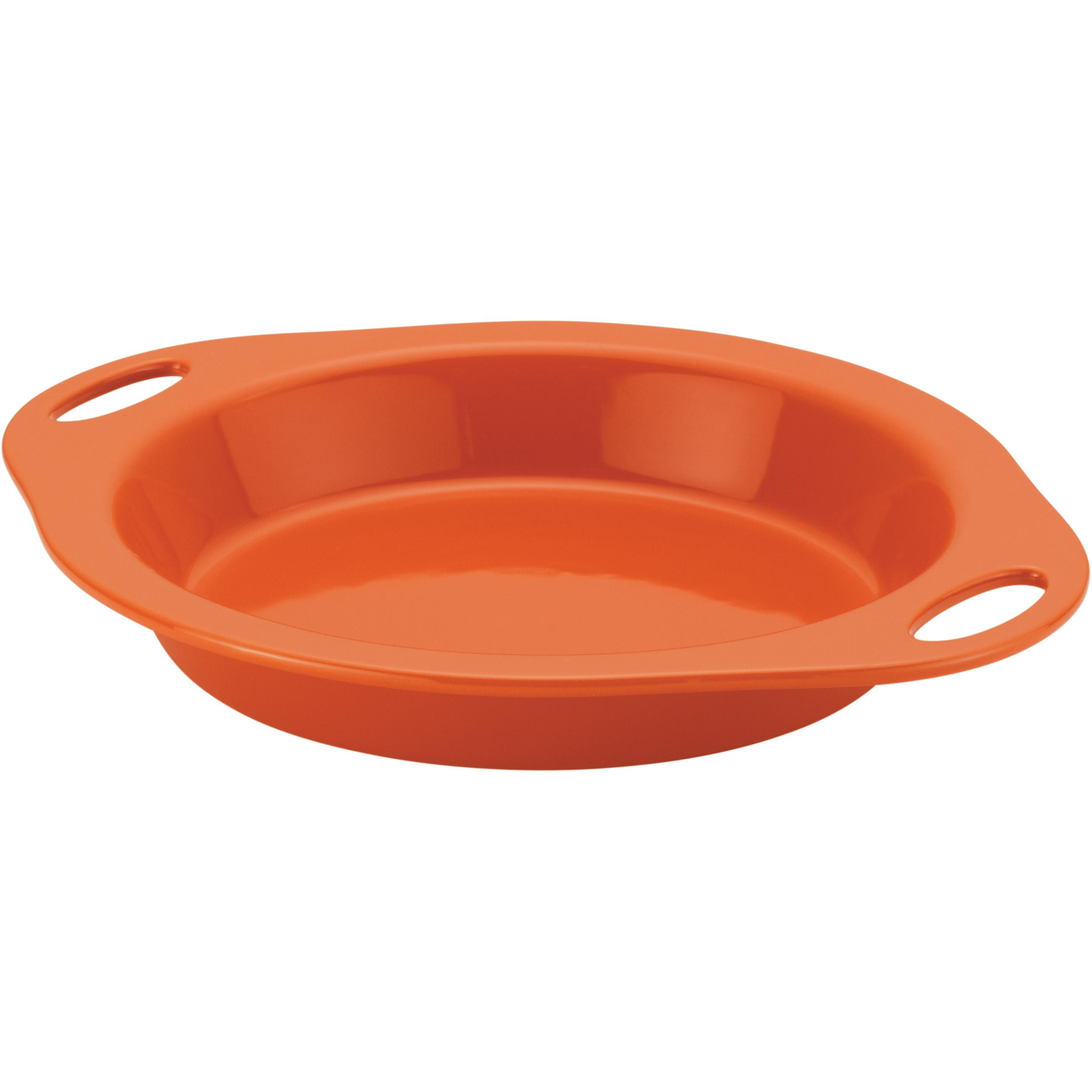 Rachael Ray Orange Stoneware Pie Baker, 9 Inch