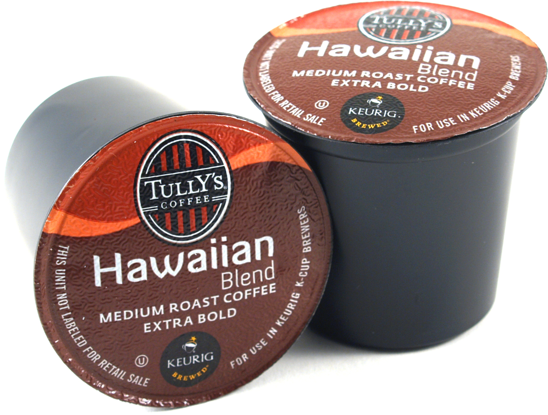 Tully's Hawaiian Blend Coffee Keurig K-Cups, 180 Count - Exceeded Best-By Date