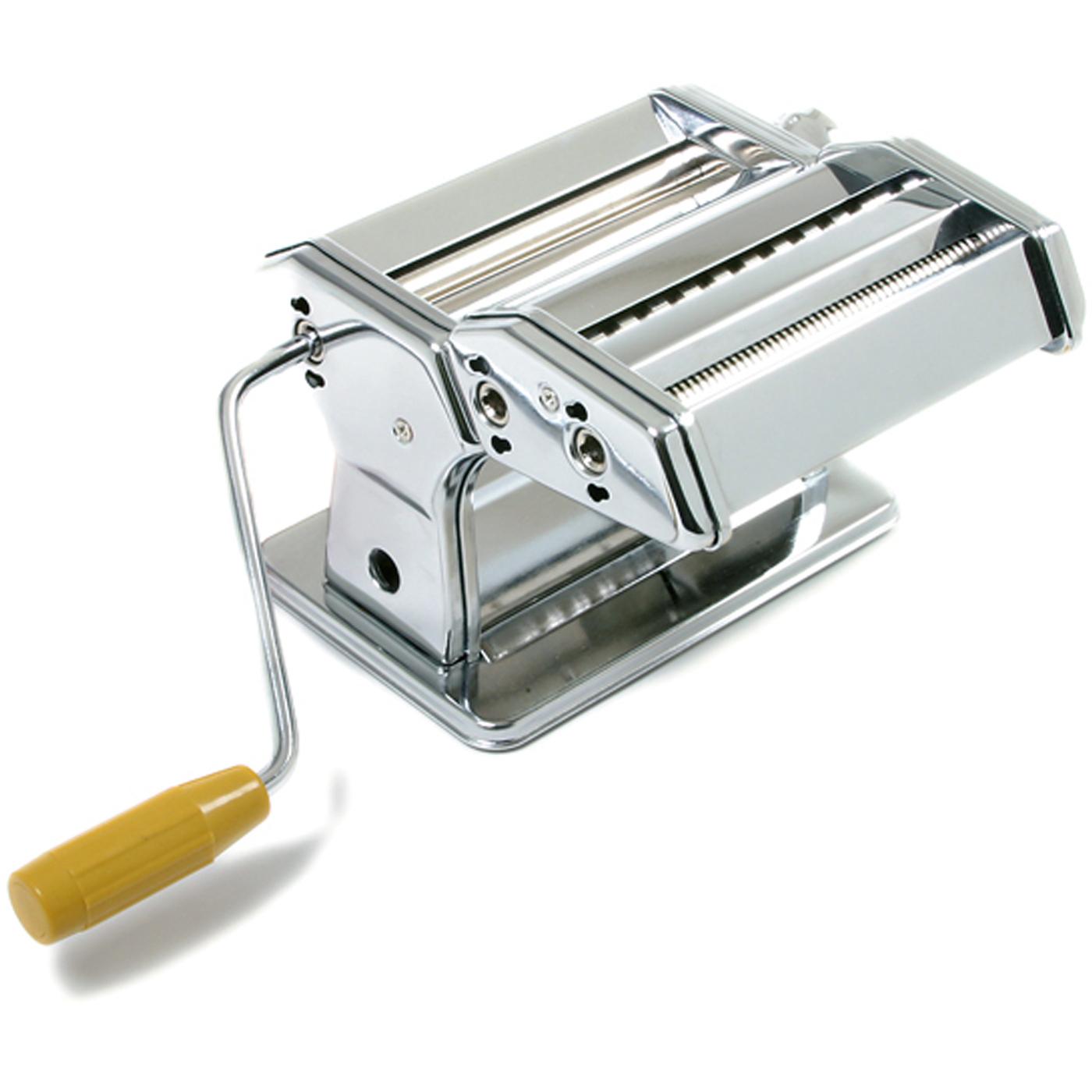 Norpro Stainless Steel and Yellow Hand Crank Pasta Machine