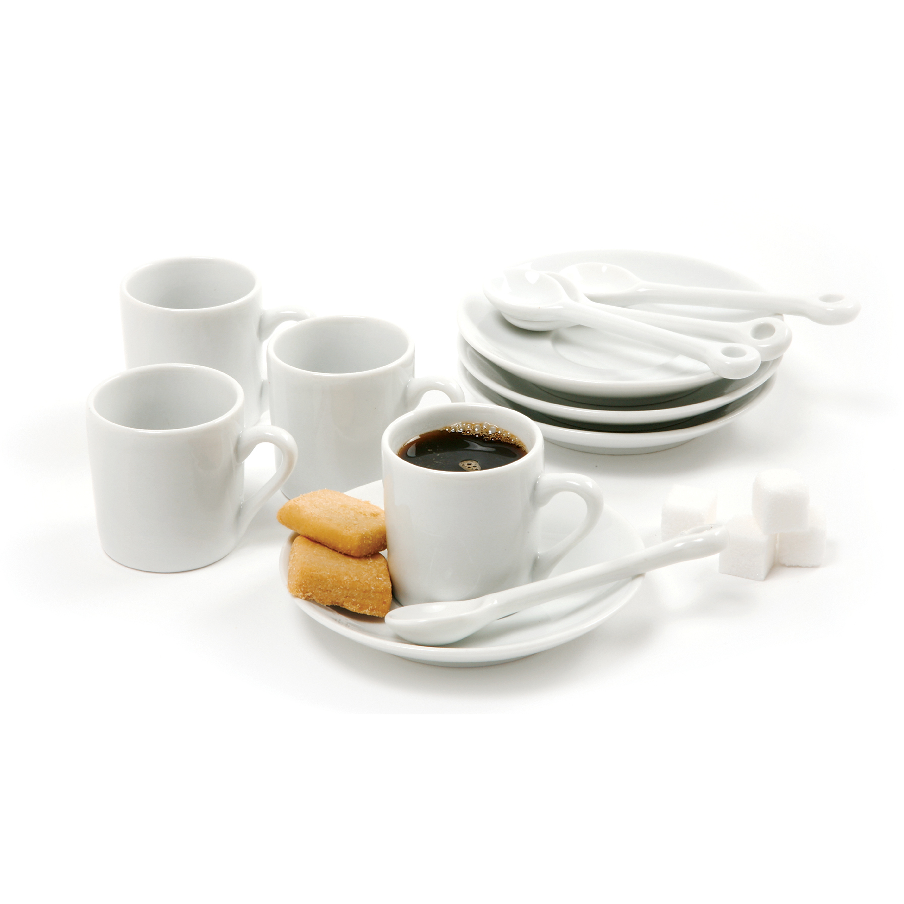 Norpro White Porcelain 12 Piece Demitasse Cup Set