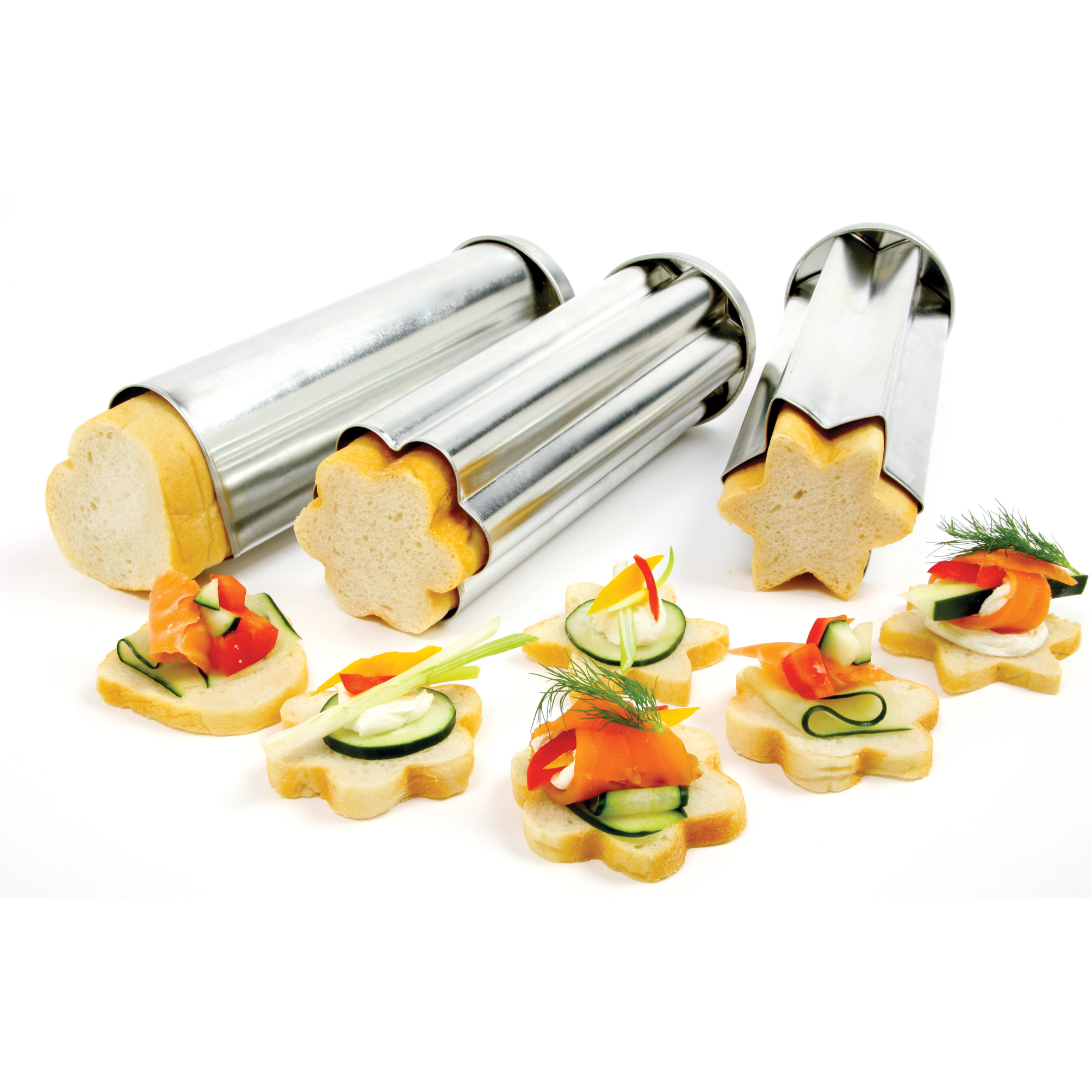 Norpro Tin 3 Piece Canape Bread Mold