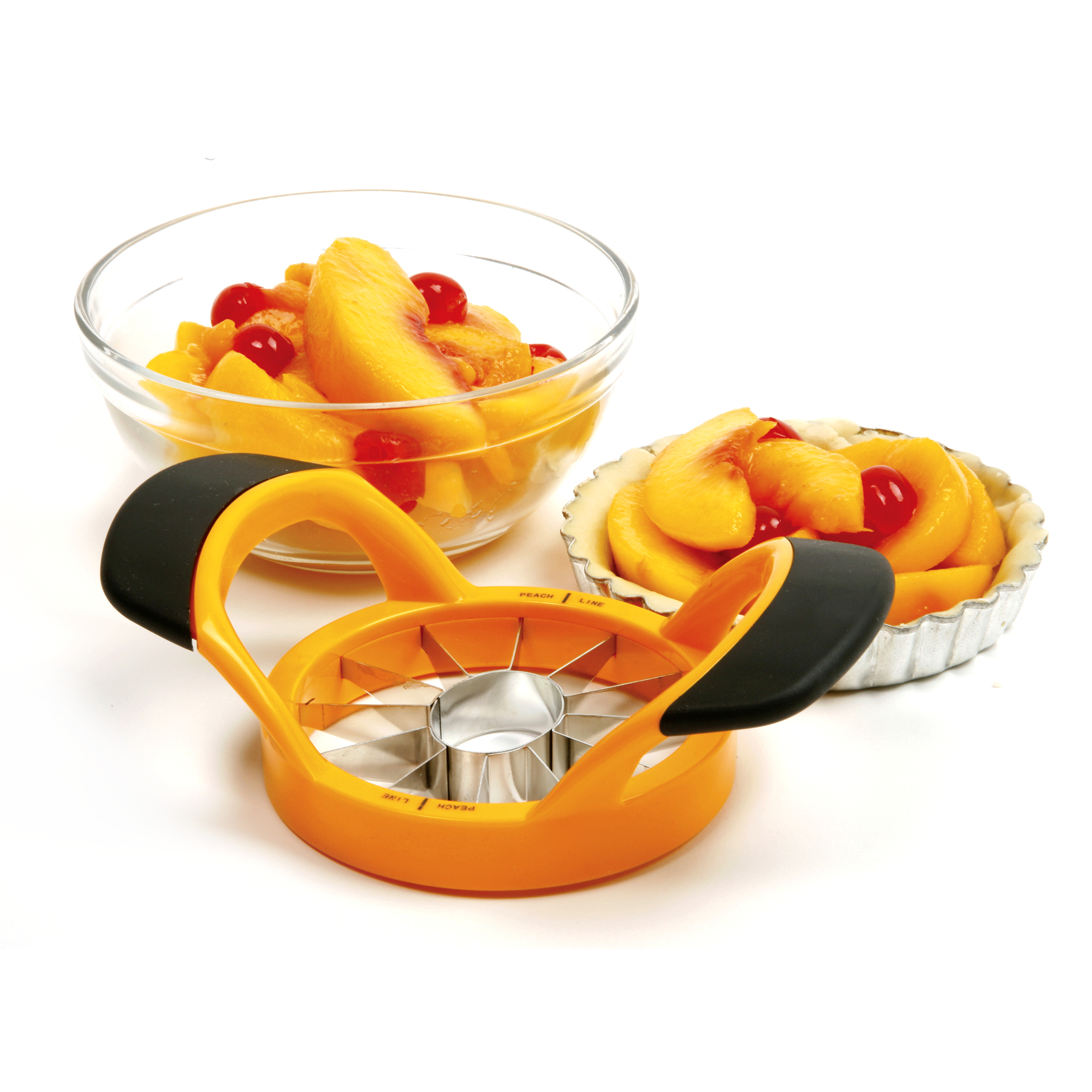 Norpro Grip-EZ Orange Stainless Steel Peach Wedger