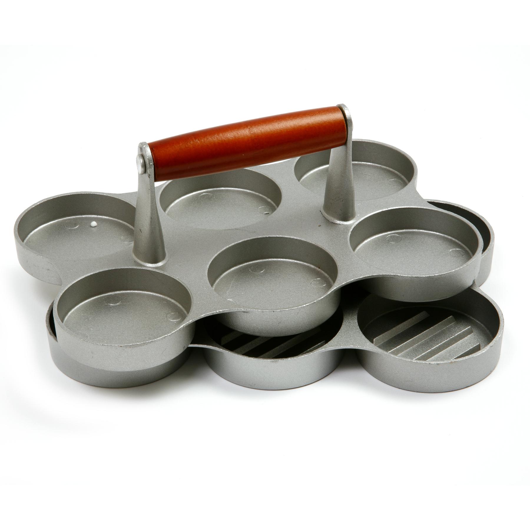 Norpro Cast Aluminum 6 Patty Mini Burger Press
