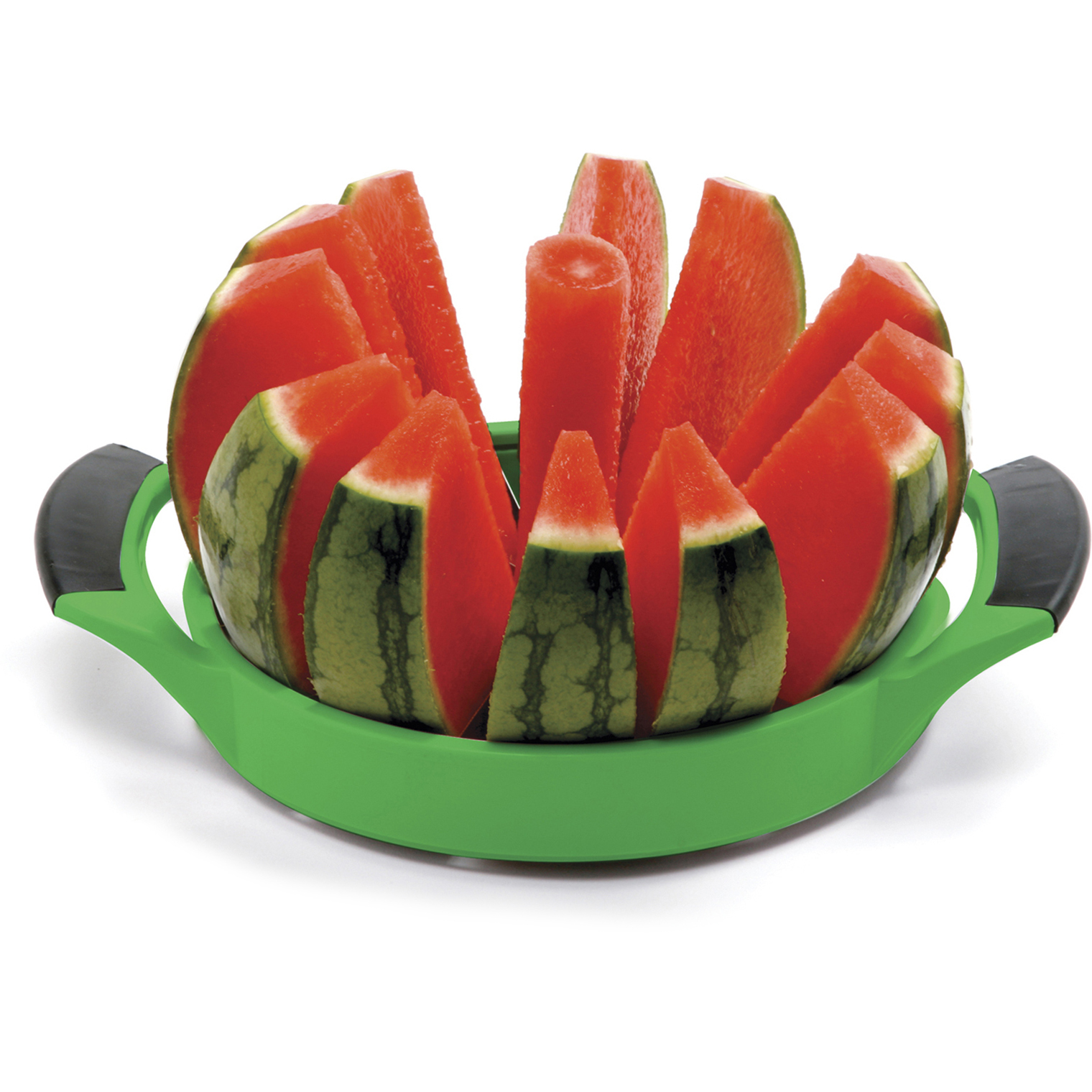 Norpro Grip-EZ Green Plastic and Stainless Steel Melon Cutter