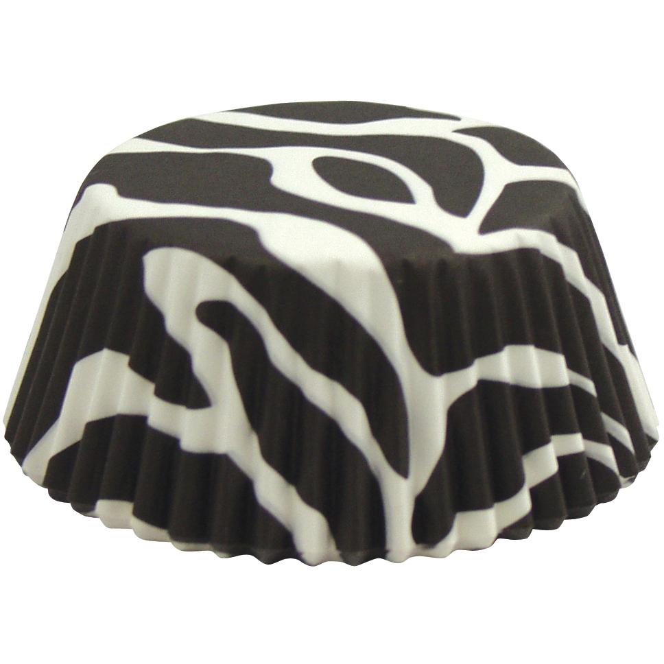Foxrun Zebra Standard Baking Cup, Set of 50