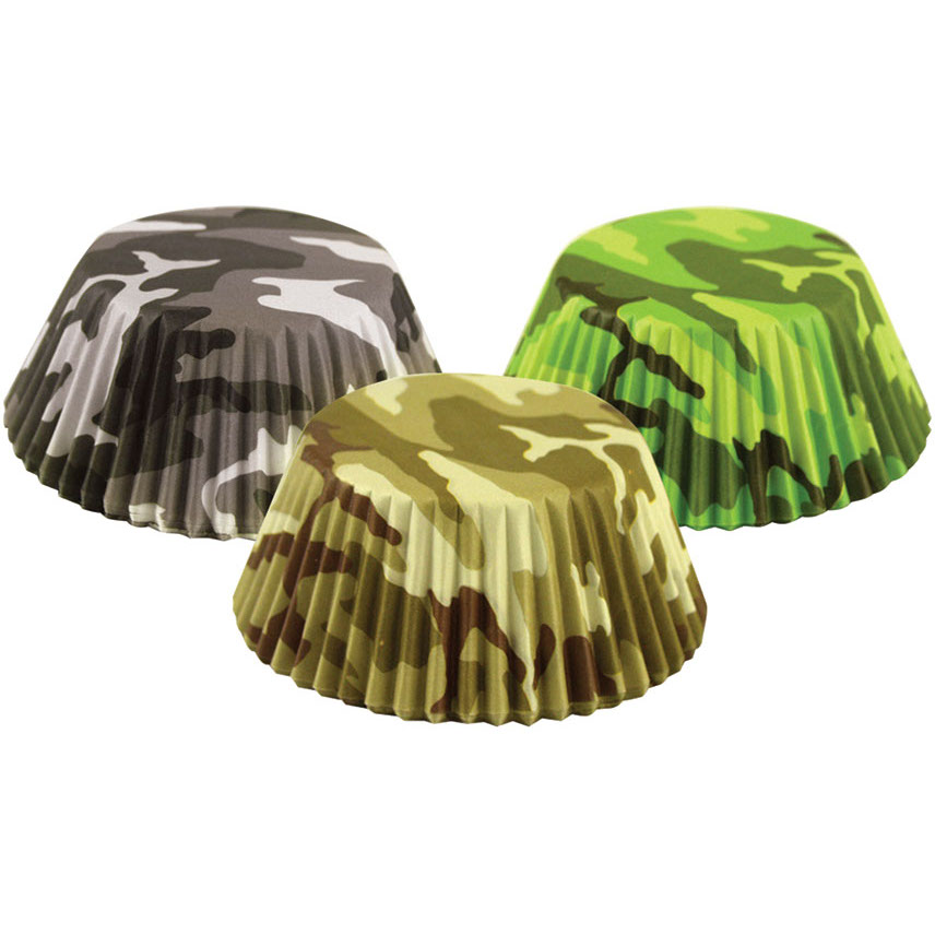 Foxrun Camouflage Mini Baking Cup, Set of 75