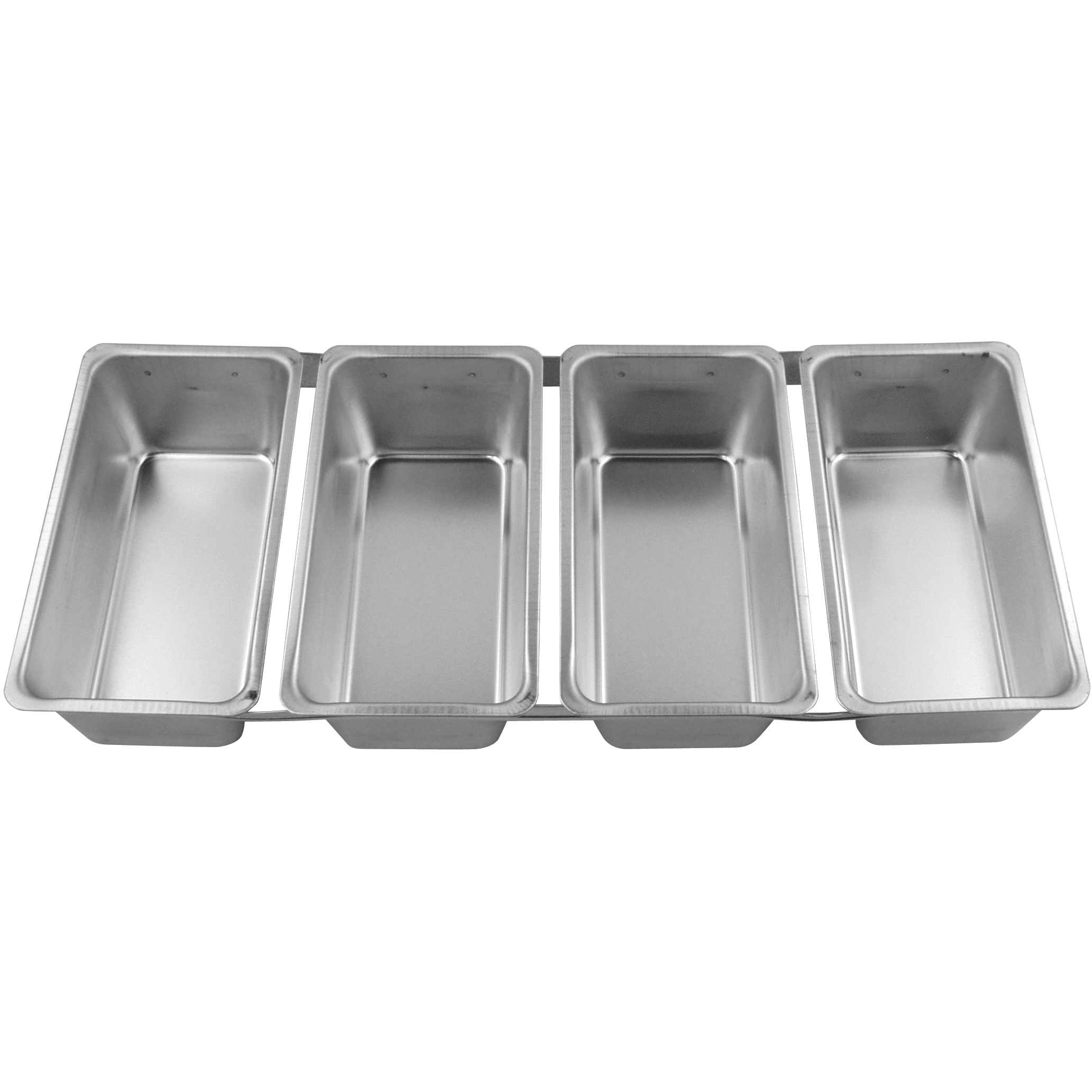 Foxrun Tinplated Steel Linked Loaf Pan, Set of 4