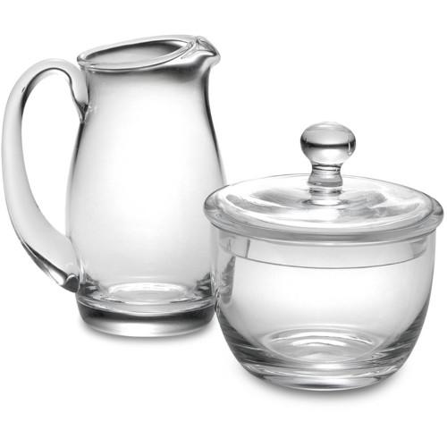 Luigi Bormioli Michelangelo Glass Sugar and Creamer Set