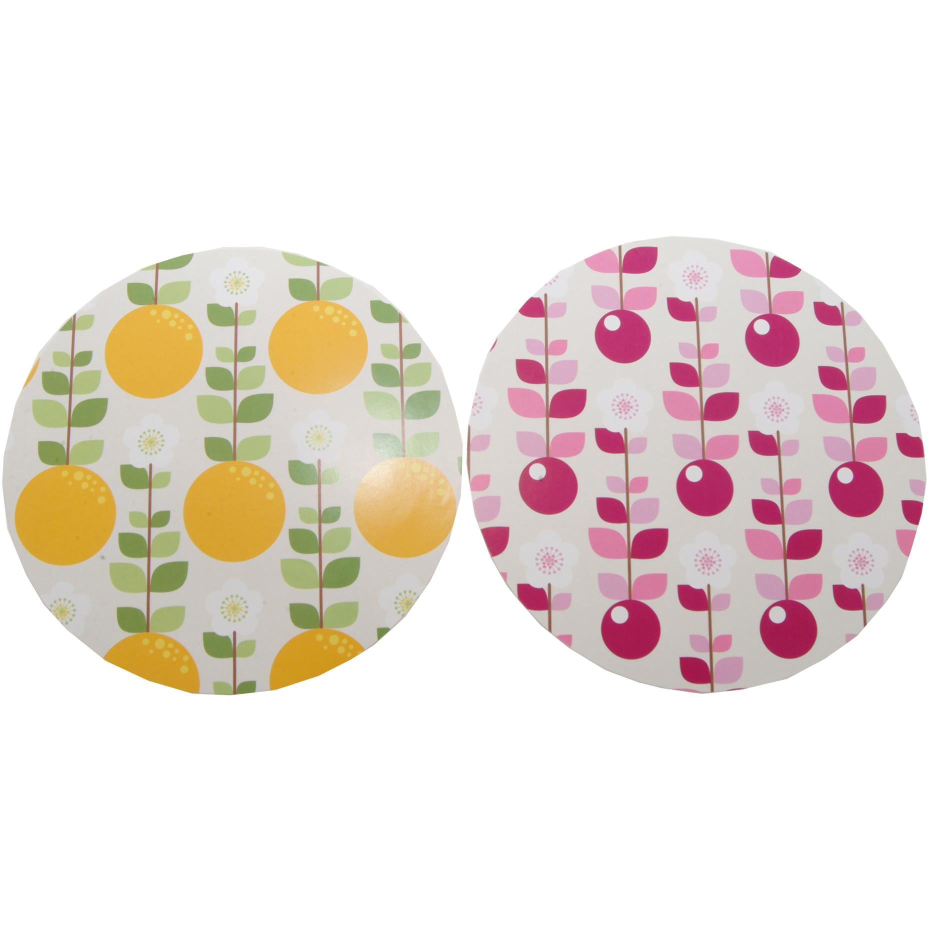 Kilner Fruit Blossom Jam Jar Cover, Pack of 24