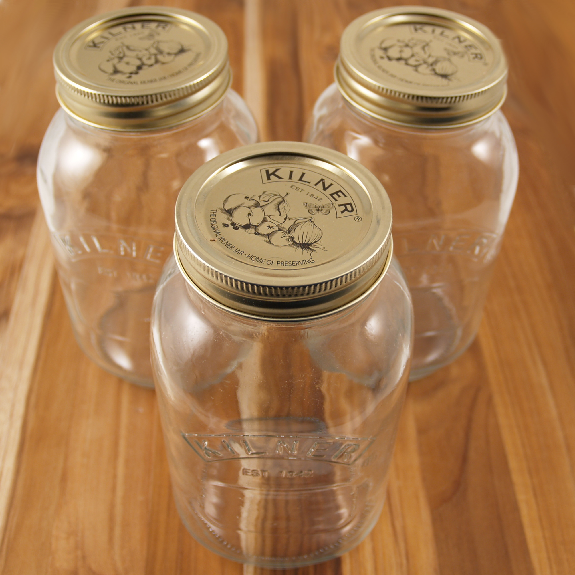 Kilner Glass 34 Ounce Preserve Jar, Set of 3