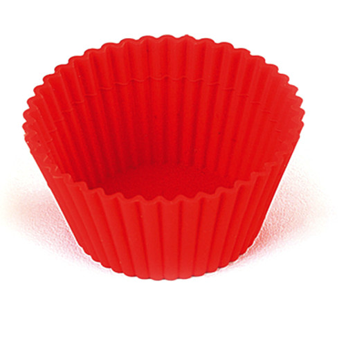 Silikomart Round Red Silicone Baking Cup, Set of 6