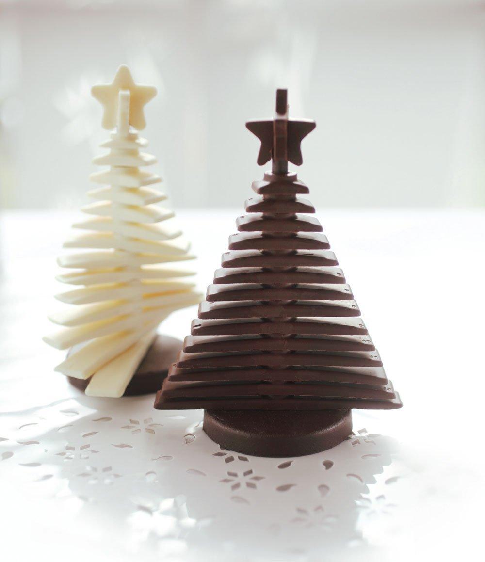 Silikomart Brown Silicone 3D Tree Easy Chocolate Mold Set