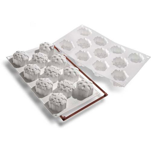 Silikomart Let's Celebrate Snowflakes White Silicone Multi Cake Pan