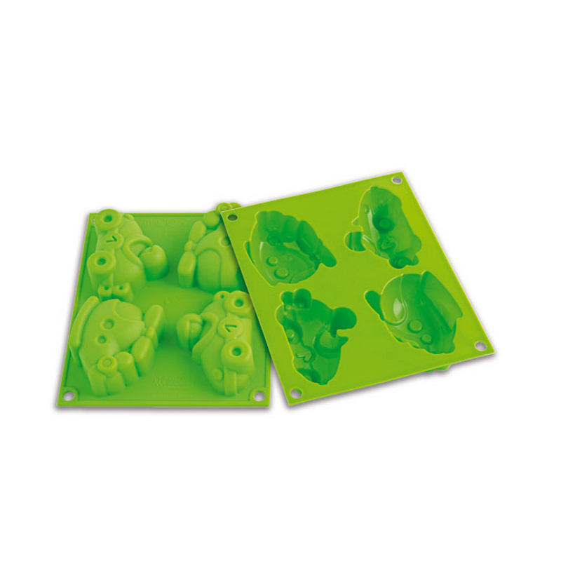 Silikomart Baby Line Green Silicone Happy Racing Baking Mold