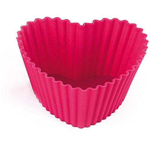 Silikomart Love Pink Silicone Baking Cup, Set of 6