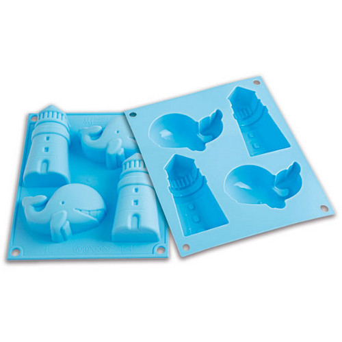 Silikomart Baby Line Blue Silicone Happy Sea Baking Mold