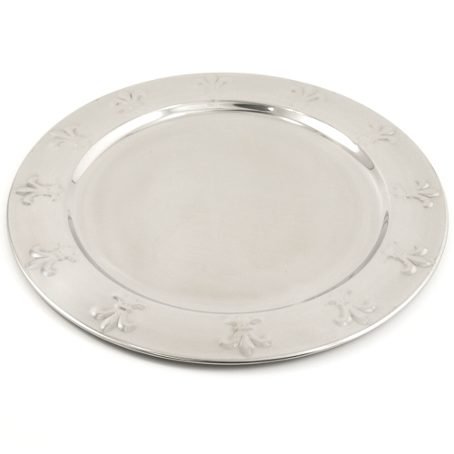 Stainless Steel Fleur de Lis Charger Plate
