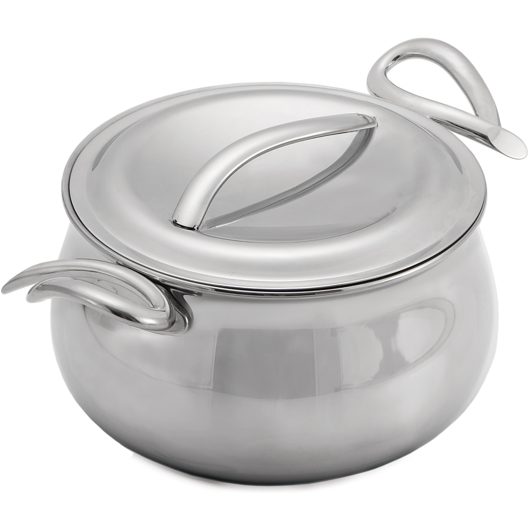 Nambe CookServ Stainless Steel Sauce Pan with Lid, 3 Quart