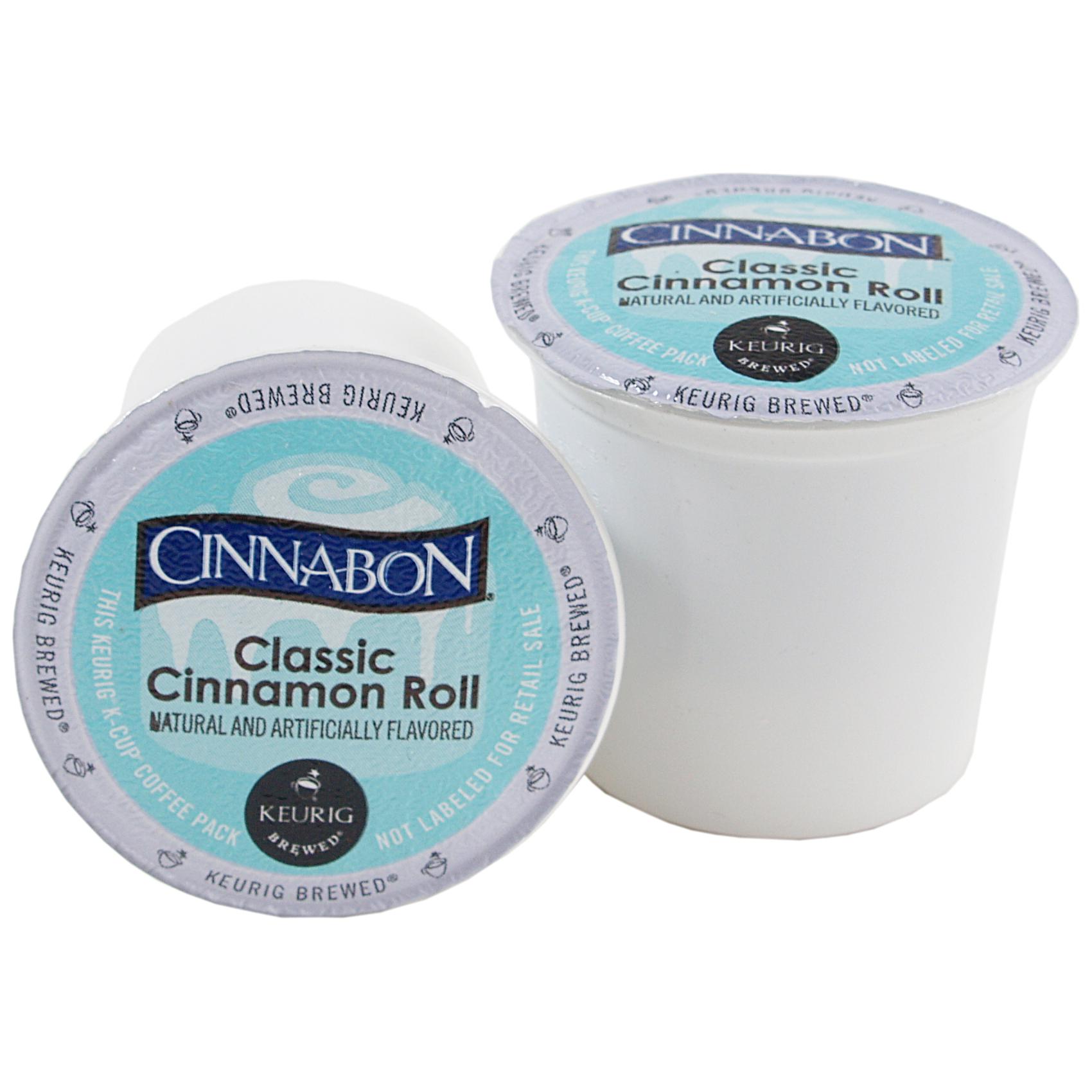 Cinnabon Classic Cinnamon Roll Coffee Keurig K-Cups, 18 Count