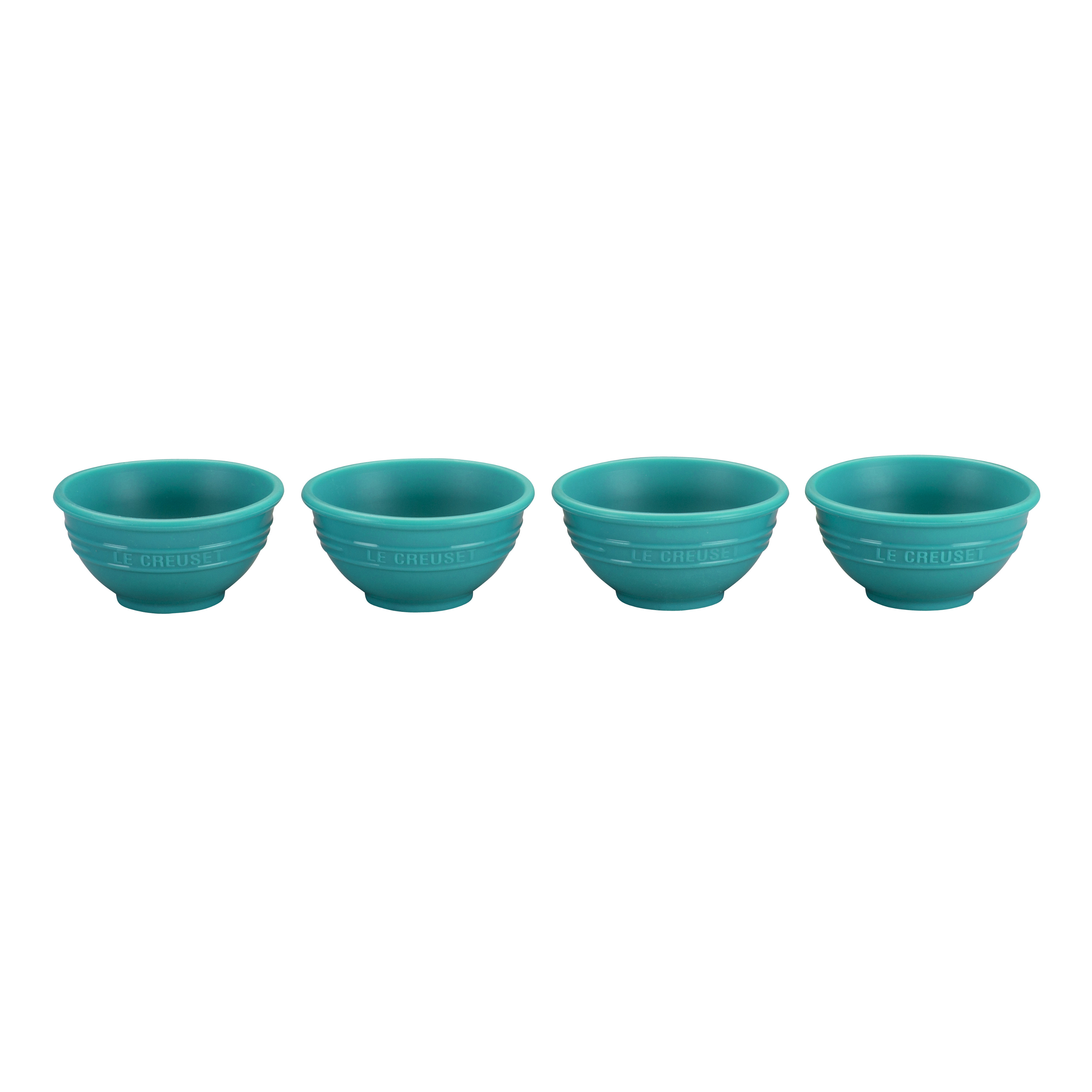 Le Creuset Caribbean Silicone Pinch Bowl, Set of 4