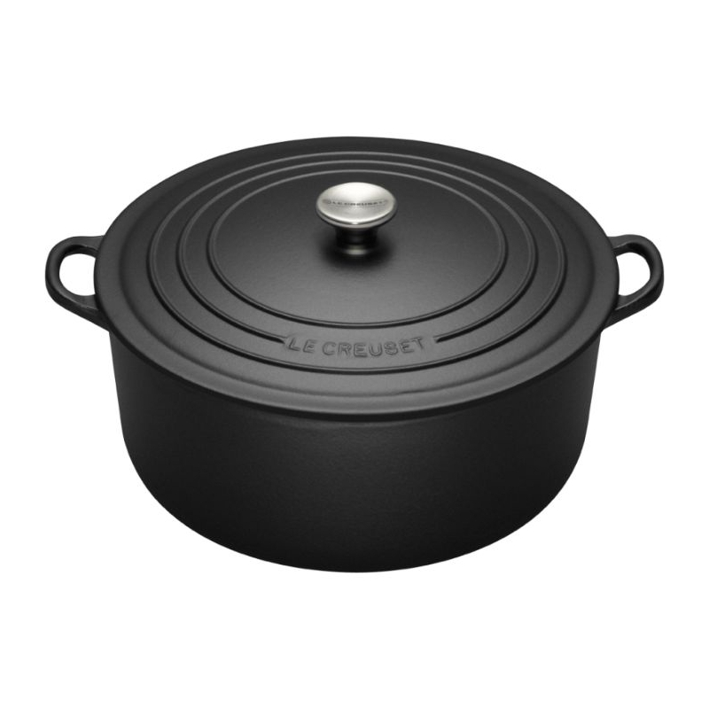 Le Creuset Matte Black Cast Iron Mini Cocotte with Stainless Steel Knob