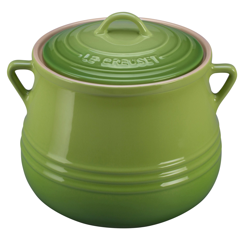 Le Creuset Heritage Palm Stoneware Bean Pot, 4.5 Quart