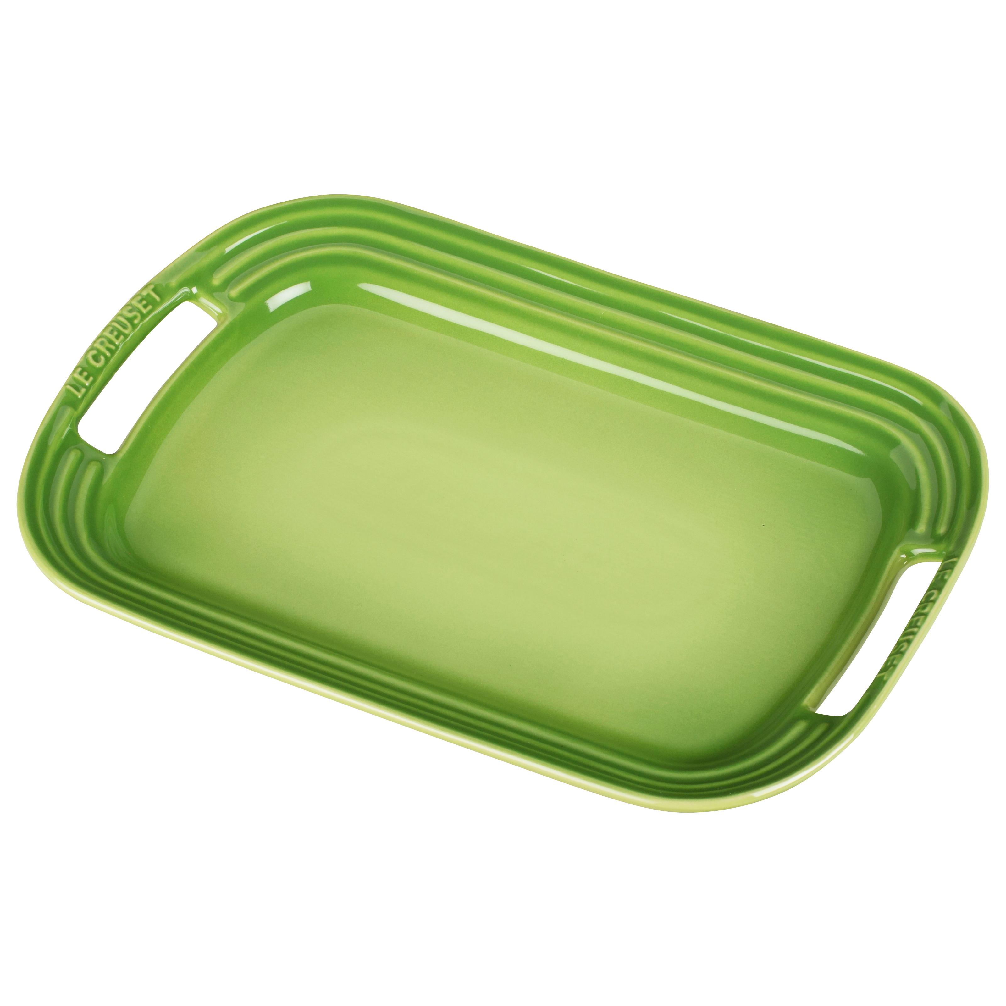 Le Creuset Palm Stoneware Serving Platter, 12.25 x 8.5 Inch
