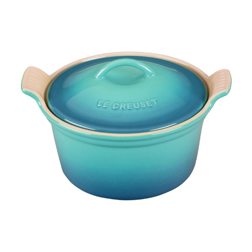 Le Creuset Heritage Caribbean Stoneware Covered Cocotte, 18 Ounce