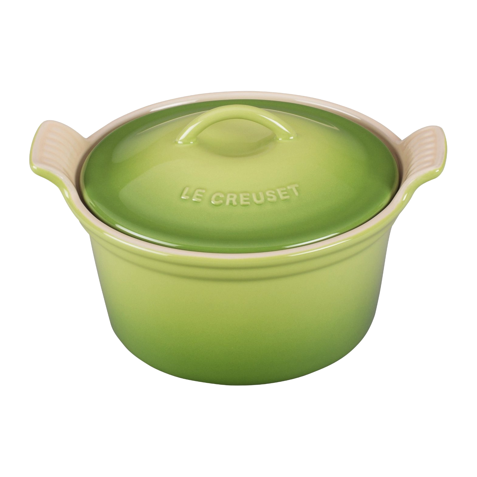 Le Creuset Heritage Palm Stoneware Covered Cocotte, 18 Ounce
